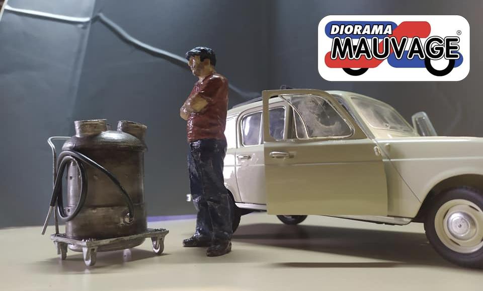 Diorama Mauvage nouveauté aspirateur 1980