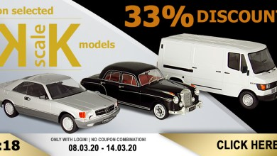 Photo of Modelcarworld : 33% de remise sur les KK-Scale