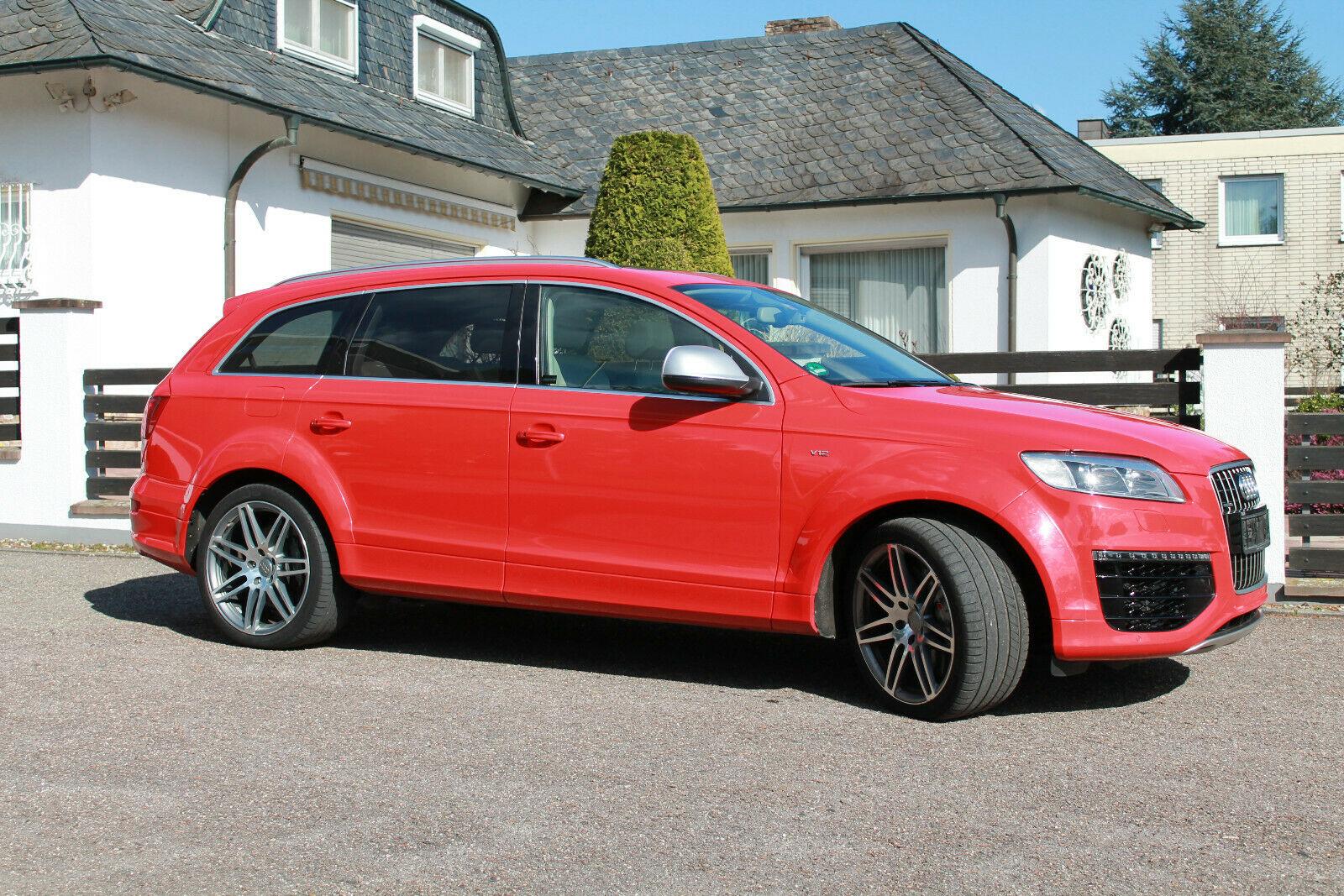 Audi Q7 V12 TDI rouge