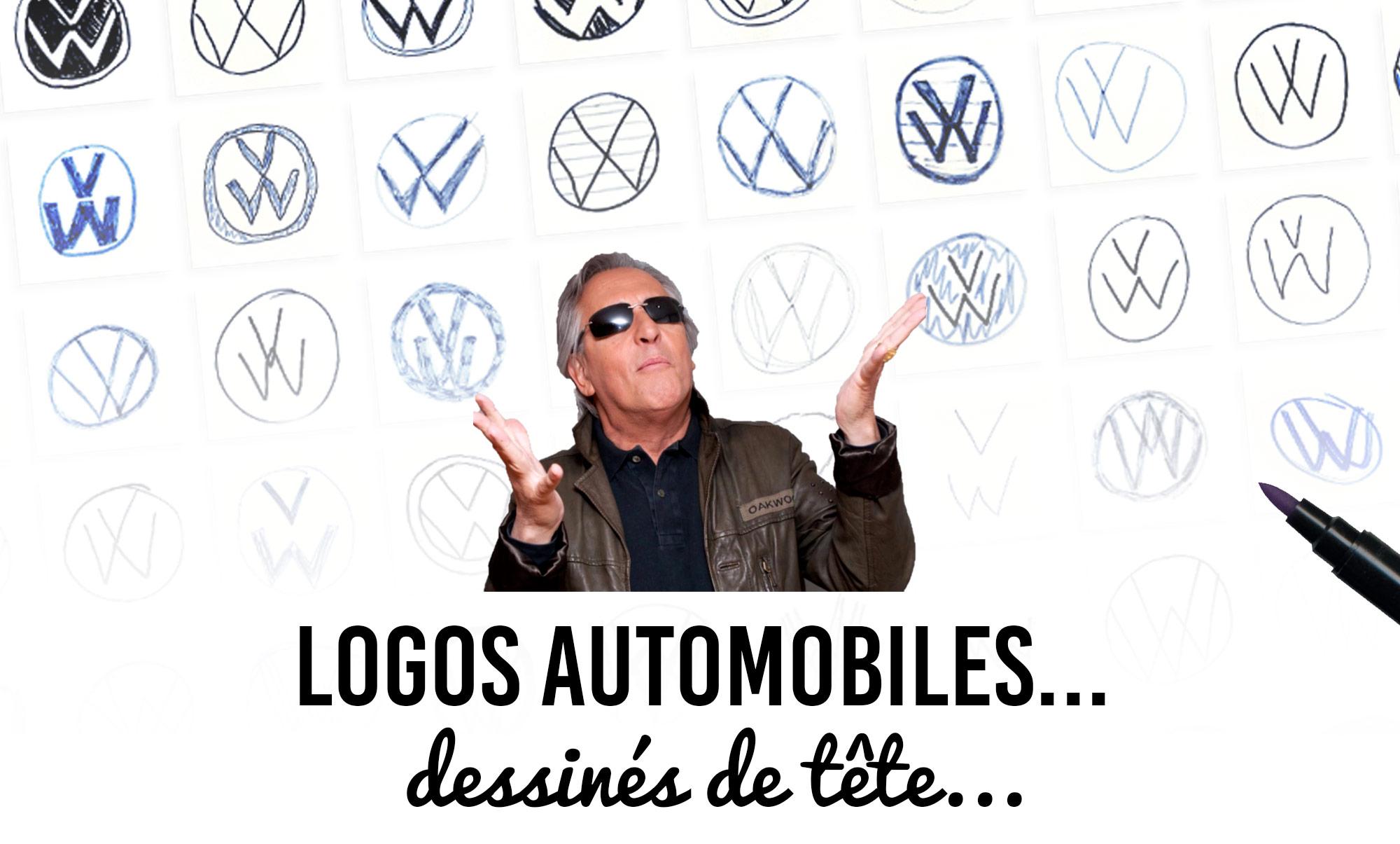 Logos automobiles dessinés de tête