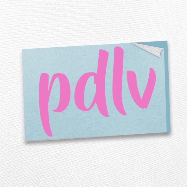 Sticker rose PDLV STK