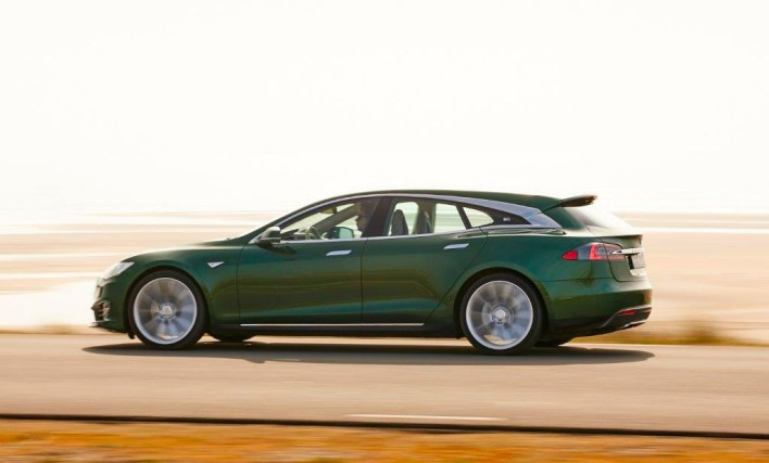 Profil de la Tesla Model S Shooting Brake