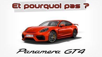 Photo of Et pourquoi pas… Une Porsche Panamera GT4 ?