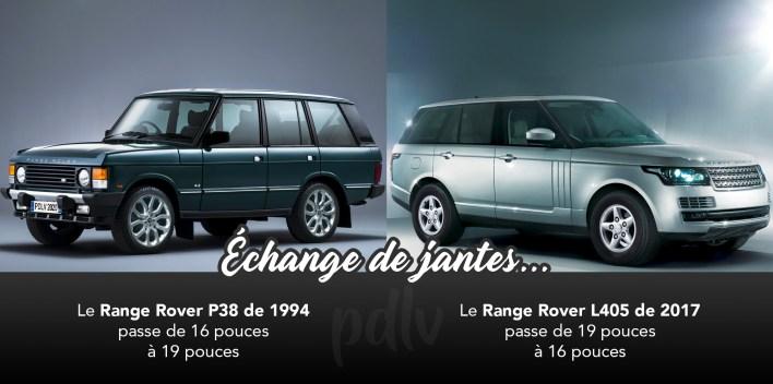 Range Rover échange de jantes