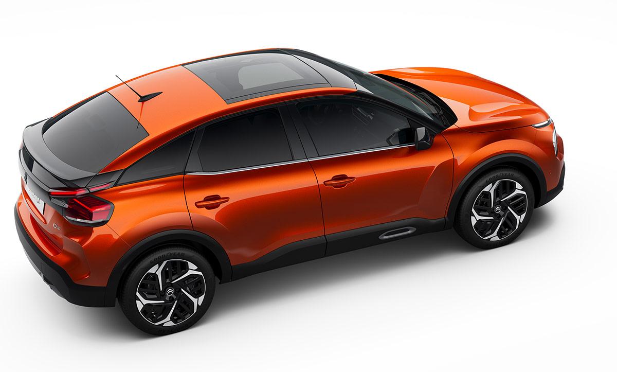 Vue arrière de la nouvelle Citroën C4