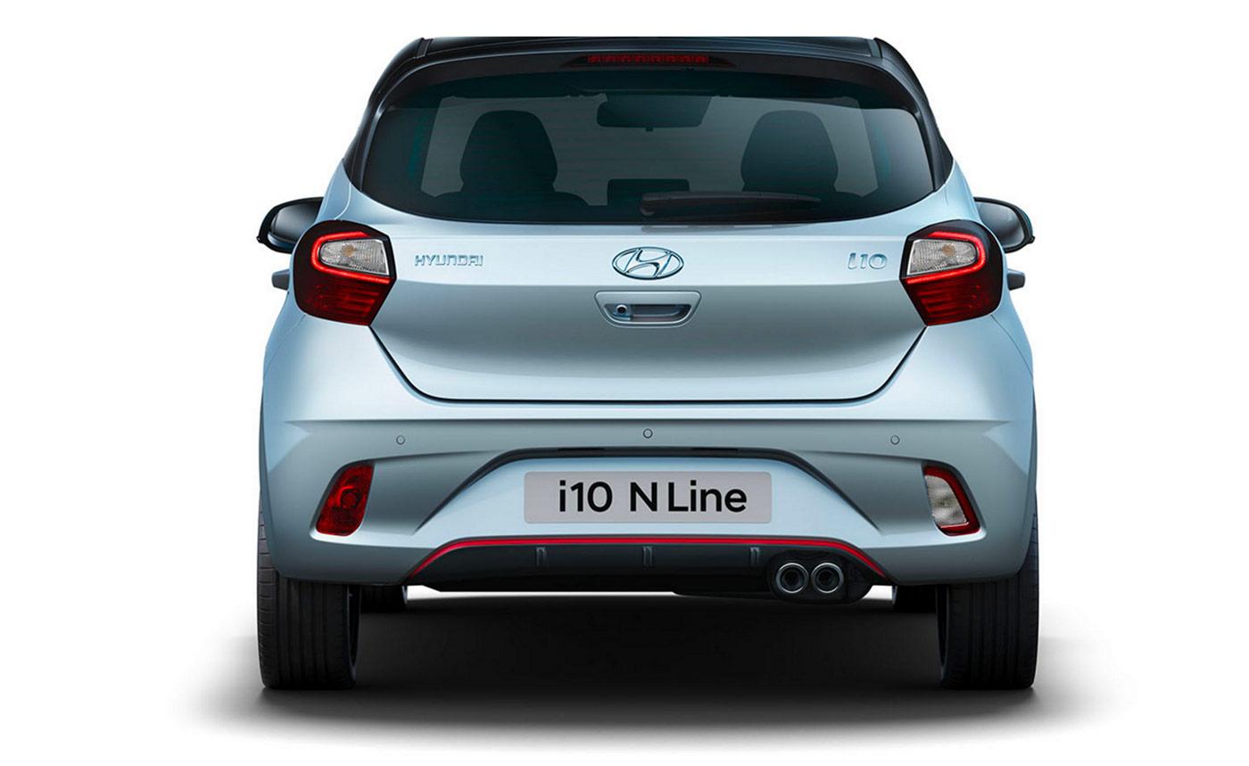 Arrière de la Hyundai i10 N Line