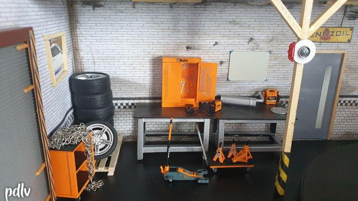 Accessoires garage diorama 1/18
