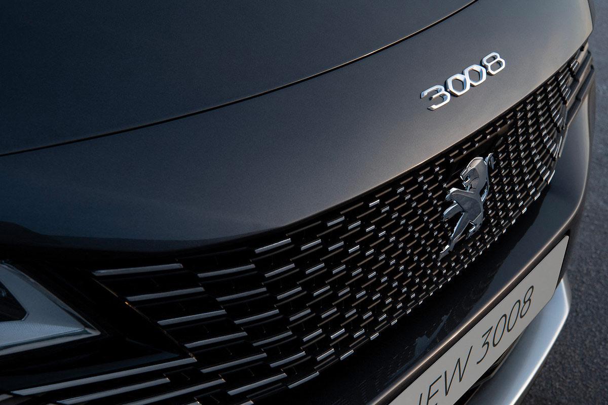 Calandre du Peugeot 3008 restylé