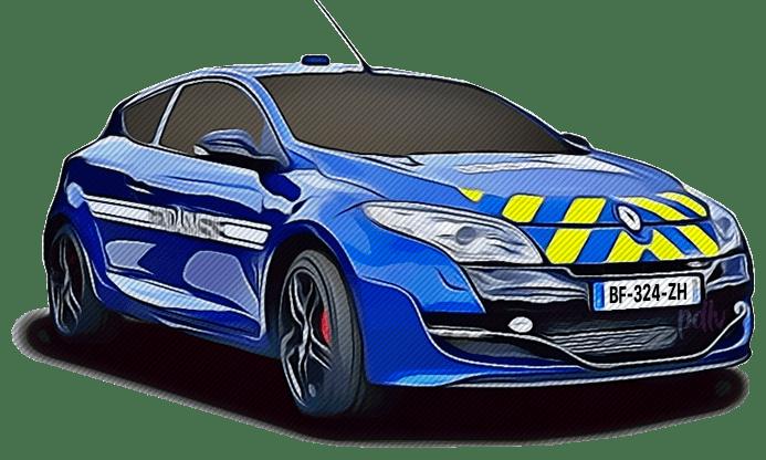 BF-324-ZH Renault Megane RS gendarmerie