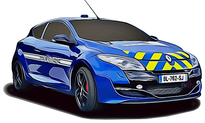 BL-762-SJ Renault Megane RS gendarmerie