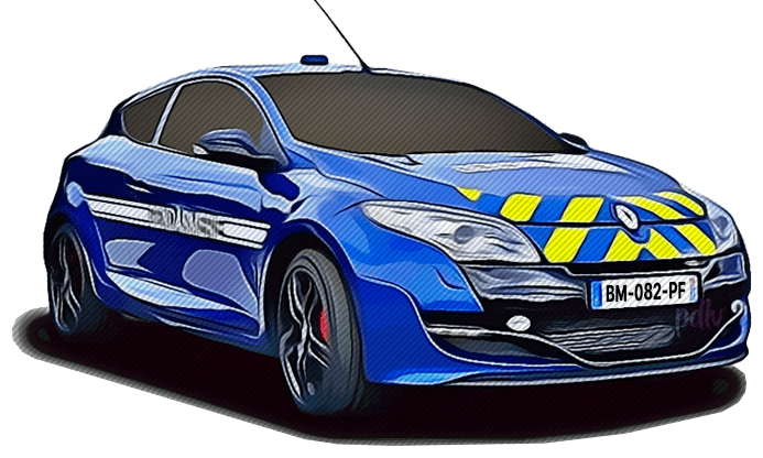 BM-082-PF Renault Megane RS gendarmerie