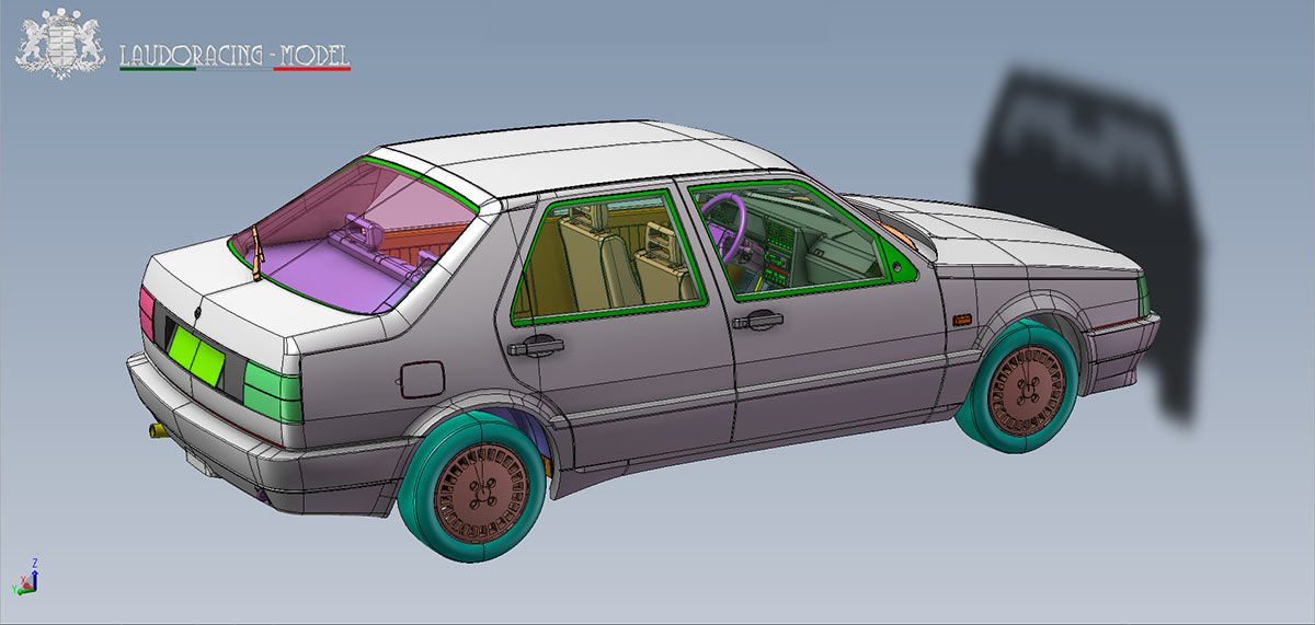 1/18 Fiat Croma Turbo Laudoracing