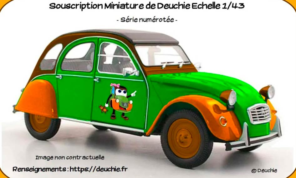 2CV Deuchie miniature 1/43