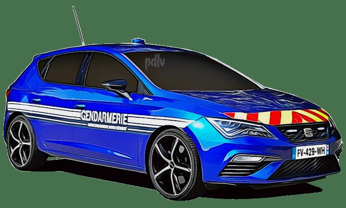 FV-429-WH Seat Leon Cupra gendarmerie