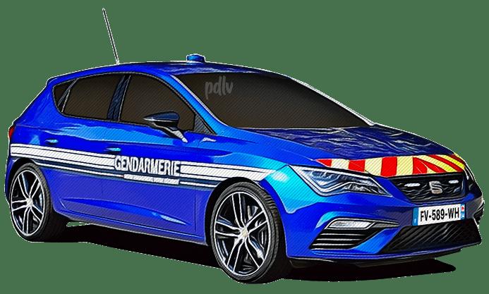 FV-589-WH Seat Leon Cupra gendarmerie