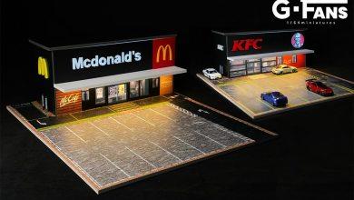 1/64 McDonalds KFC diorama