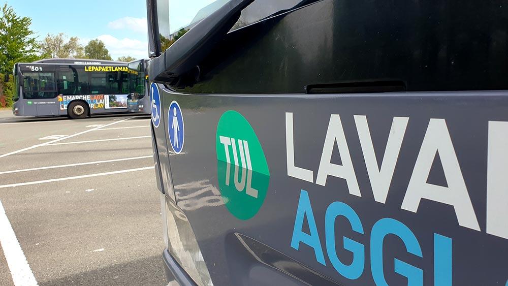 Livrée des bus TUL à Laval