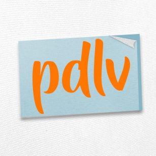 Sticker orange PDLV STM
