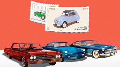 Timbres automobiles La Poste
