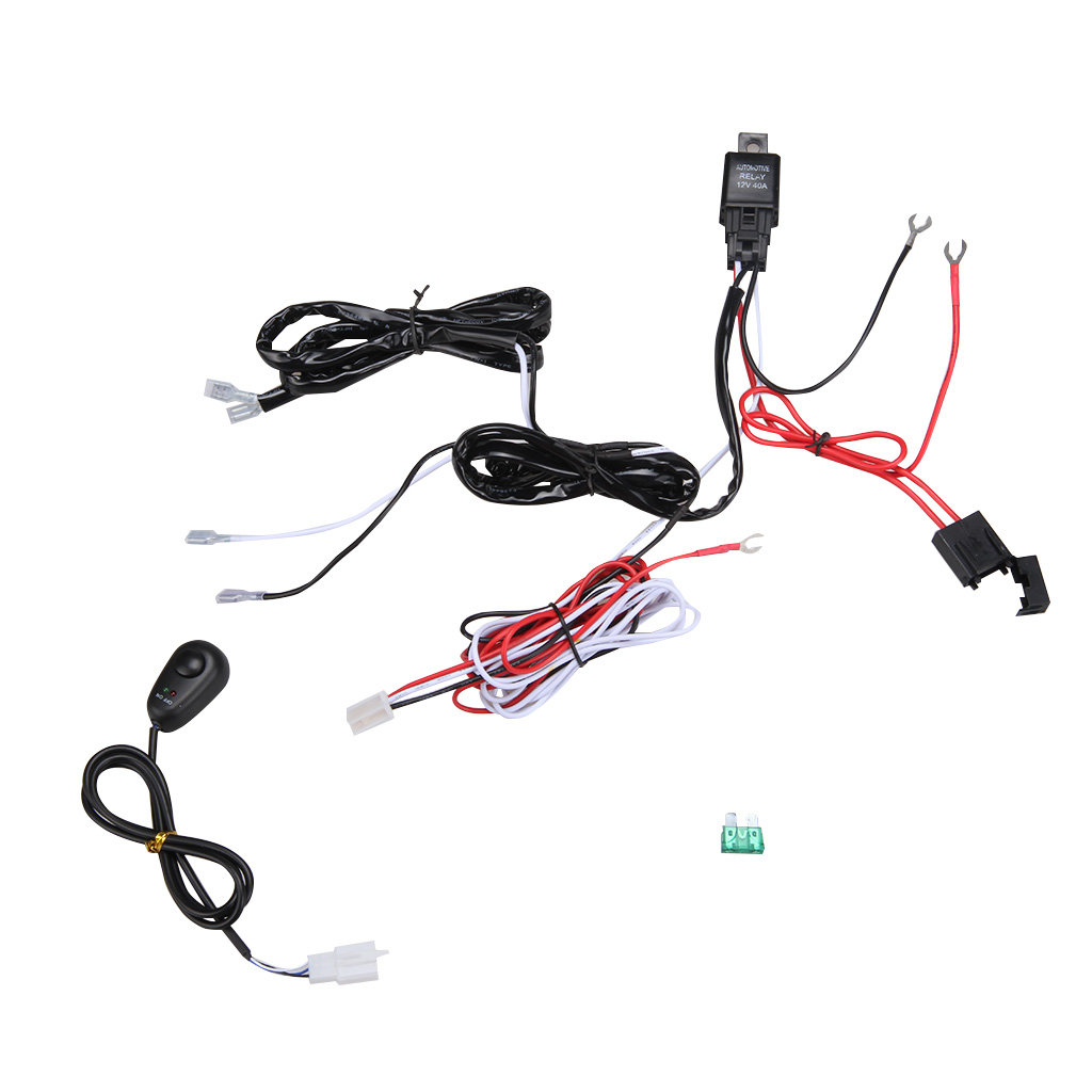 2in1 Wiring Harness Kit Loom For Led Work Driving Light