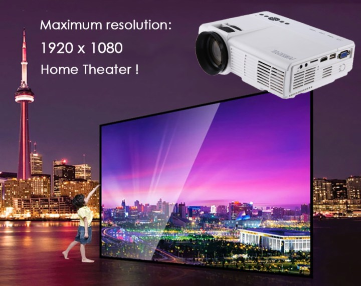 POWERFUL Q5 Home Theater 1000 Lumens 480 X 320 Pixels Multimedia HD LCD Projector White price in Nigeria