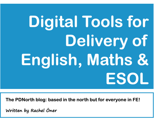 Digital Tools for Delivery of English, Maths & ESOL