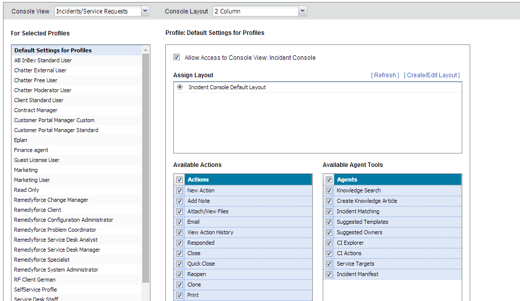 Work With The Remedyforce Console