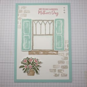 Welcoming Window card with die cuts