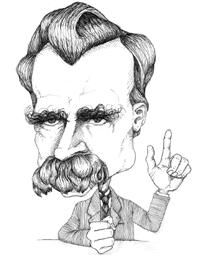Resultado de imagen de friedrich nietzsche caricatura