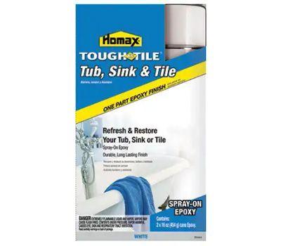 homax 720771 tough as tile tub sink tile epoxy spray paint 32 ounce kit white