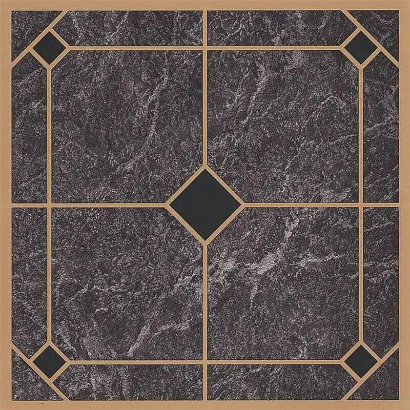 prosource cl2002 vinyl floor tile slate blue gold carton of 45
