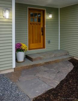 Front entrance, stone steps