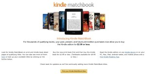 How Kindle Matchbook will Save Your Christmas