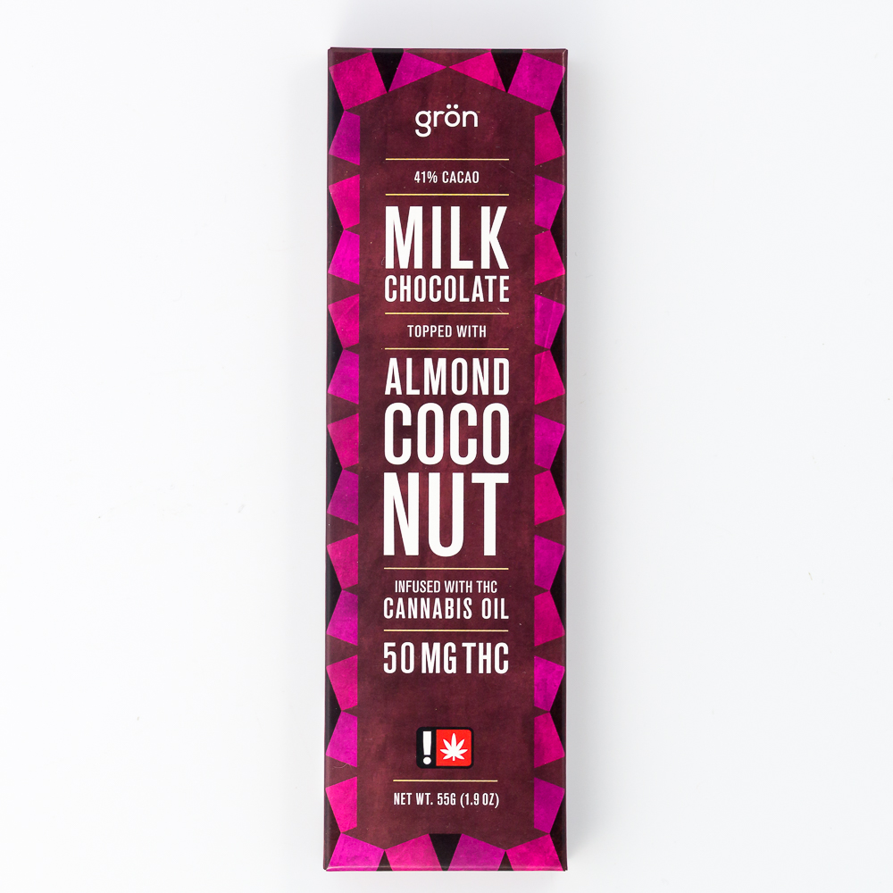 Gron Almond Coconut Milk Chocolate Bar | Green Box