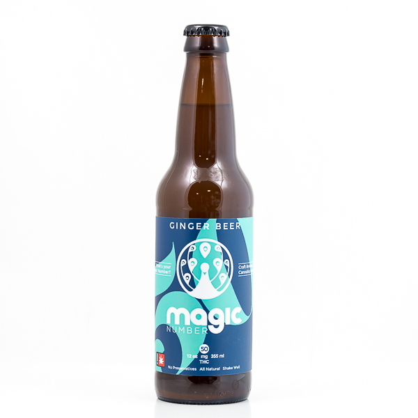 Drink Magic Number Ginger Beer 50mg | Green Box