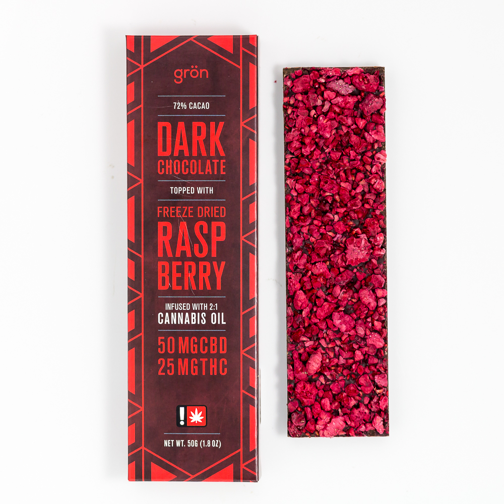 Dark Chocolate Raspberry Bar 2:1
