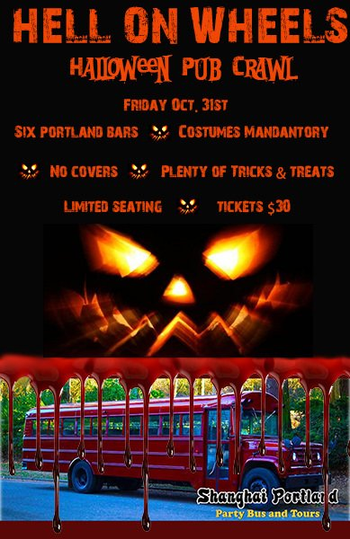 Portland Halloween Party Bus