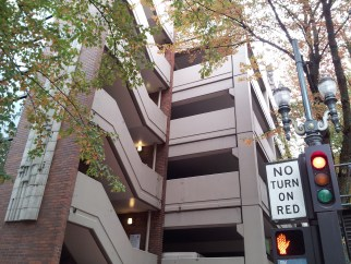 Parking garage at SW 10th and Yamhill