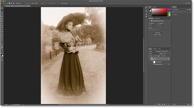 Opening a PSD file from the Creative Cloud. Image © 2016 Steve Patterson, Photoshop Essentials.com
