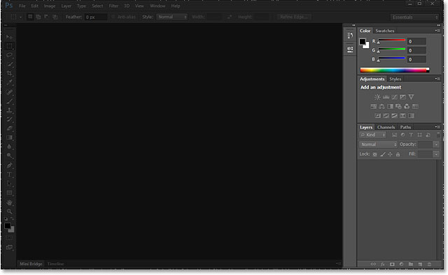 The panels in the Photoshop CS6 interface. Image © 2013 Steve Patterson, Photoshop Essentials.com