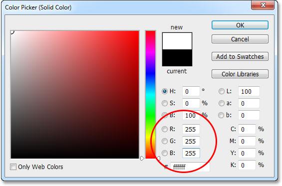 Lựa chọn một tô màu lớp rắn trong bảng Layers.  Hình ảnh © 2013 Photoshop Essentials.com