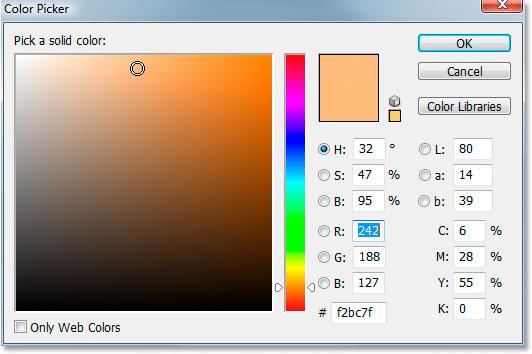 Photoshop's Color Picker.
