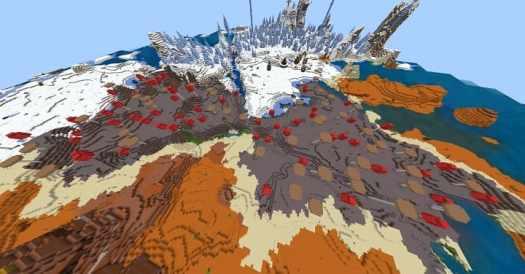 Several rare biomes in Minecraft PE