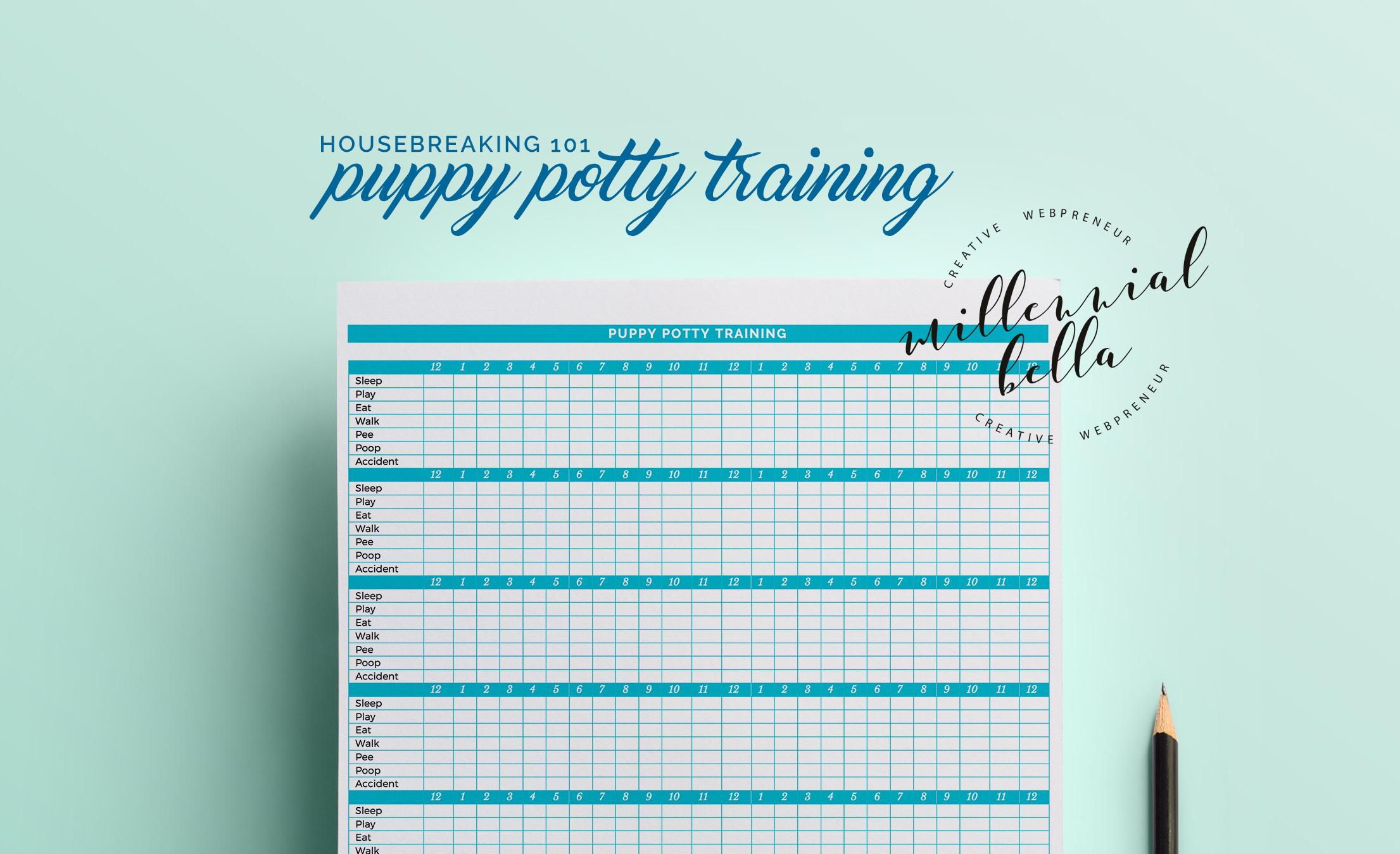 Puppy Potty Training Worksheet