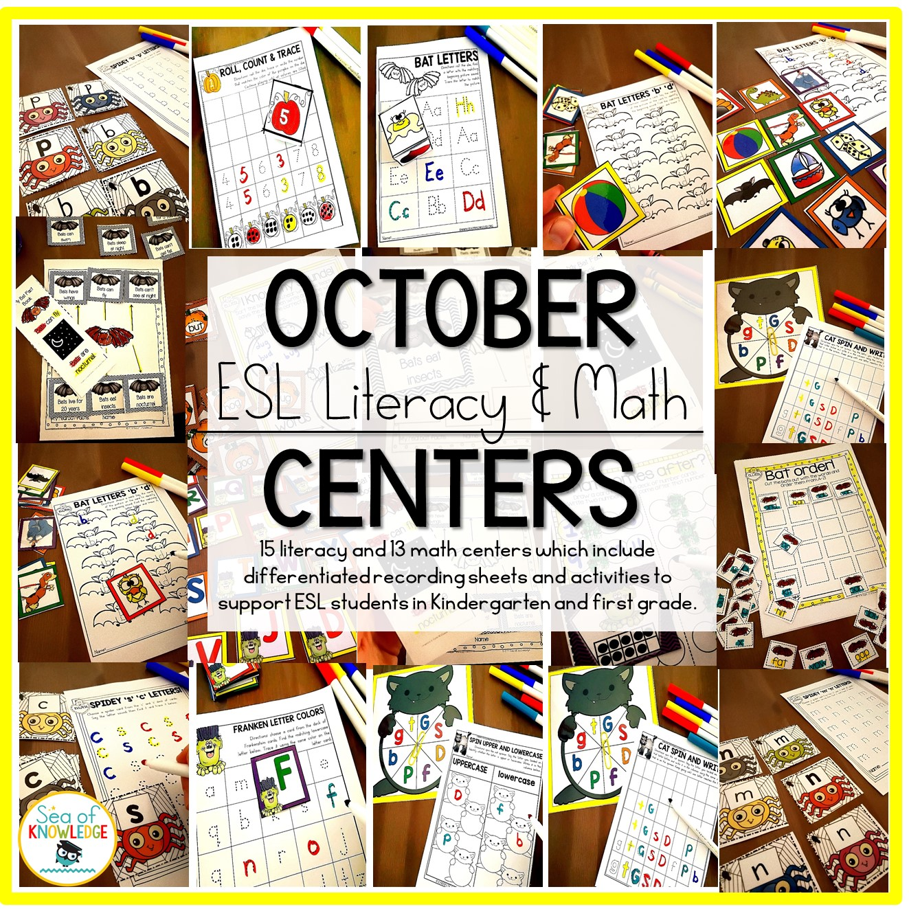 October Centers For Kindergarten