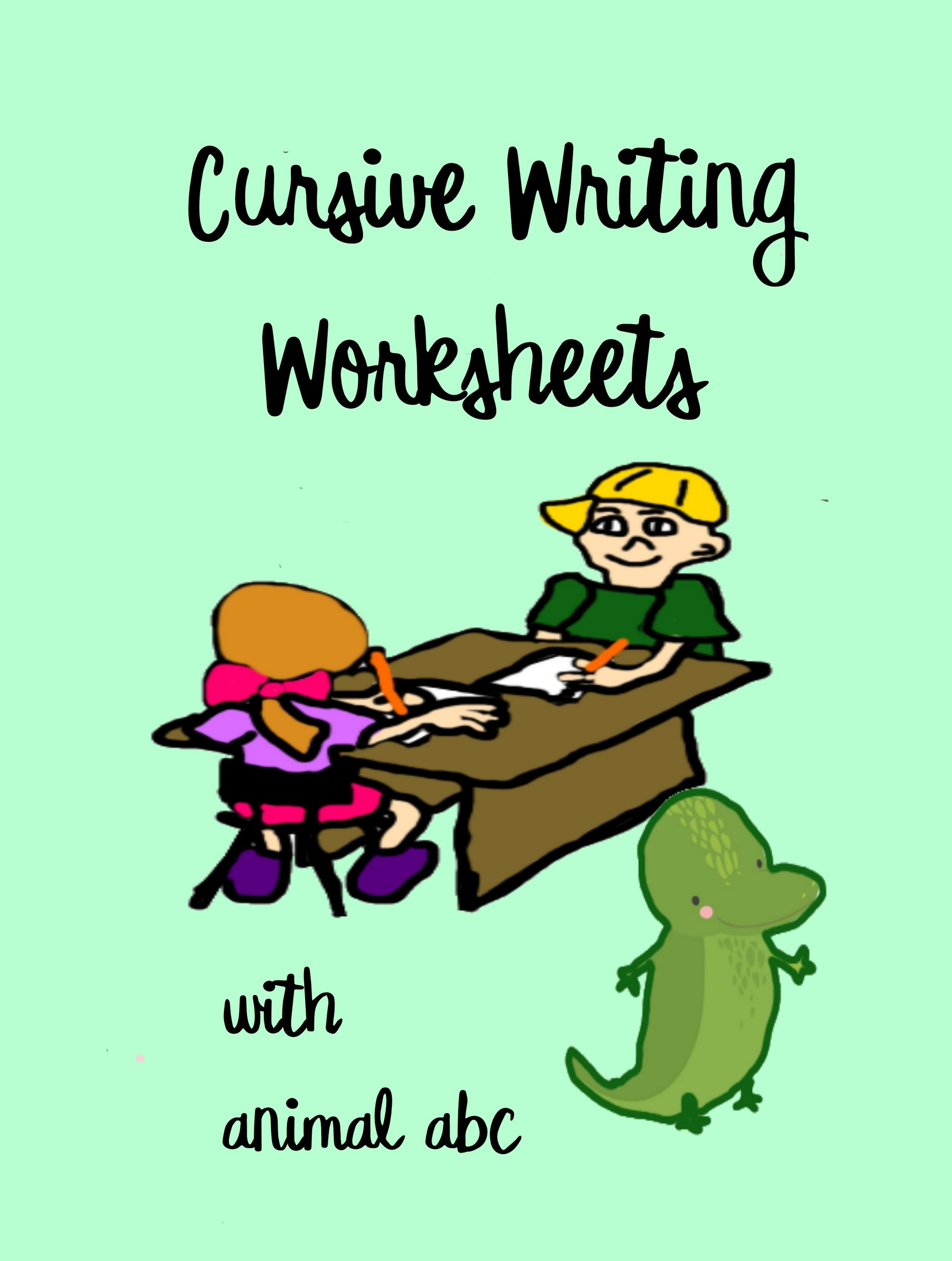 Cursive Writing Worksheets With Animal Abc