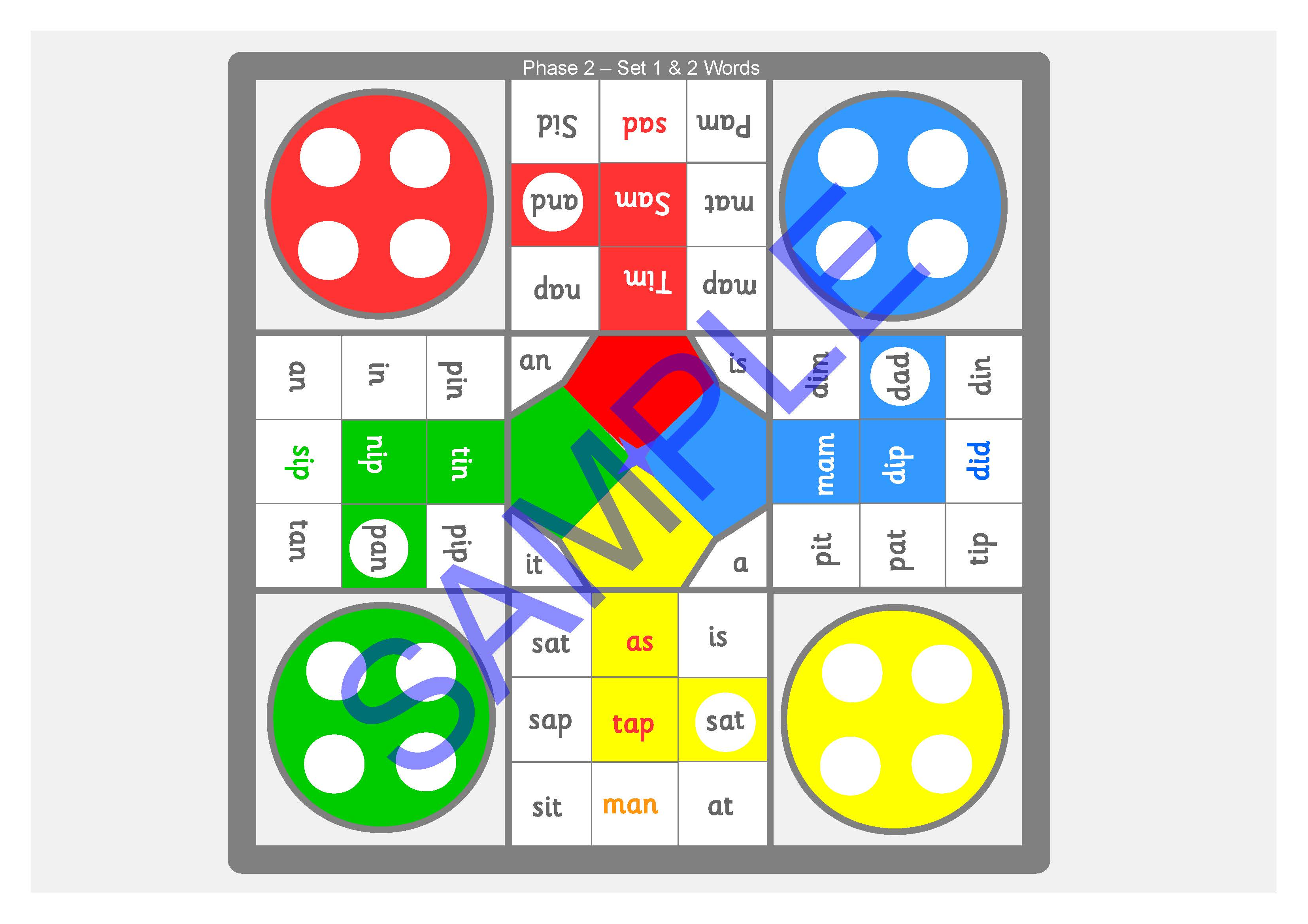 A3 Size Phonics Reading Board Games Letters And Sounds