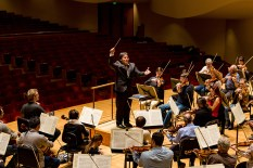 BSO rehearsal- Qing Li and student conductors