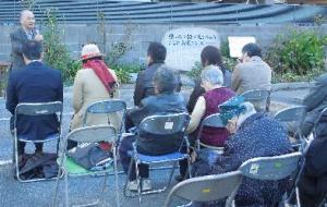 村松さんの挨拶 12/7 南区 ふれあい病院