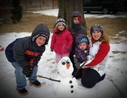 The kids made Olaf!